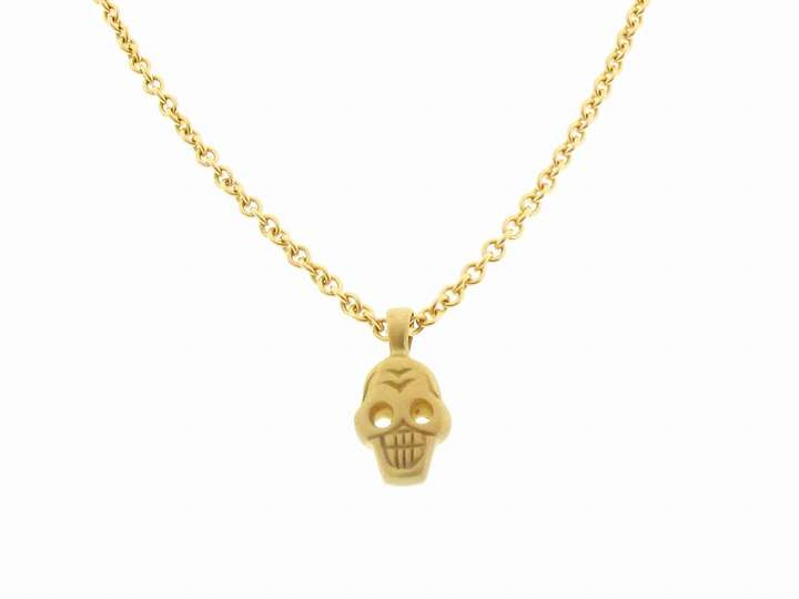 Me & Ro Tiny Skull Pendant in 10 Karat Gold