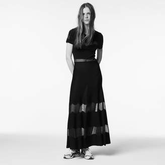 Sandro Long dress with graphic details