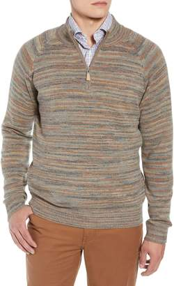 Peter Millar Twisted Cashmere Quarter Zip Sweater