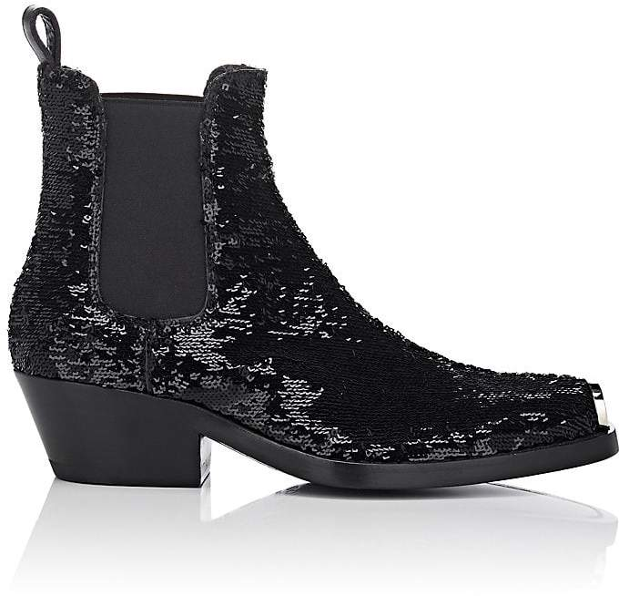 CALVIN KLEIN 205W39NYC Women's Western Claire Sequined Chelsea Boots
