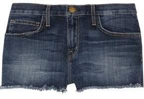 Current/Elliott The Boyfriend Low-Rise Cut-Off Stretch-Denim Shorts