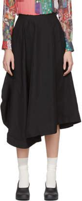 Comme des Garcons Black Skewed Skirt