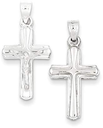 1928 Gold and Watches Sterling Silver Rhodium-plated Hollow Crucifix Pendant