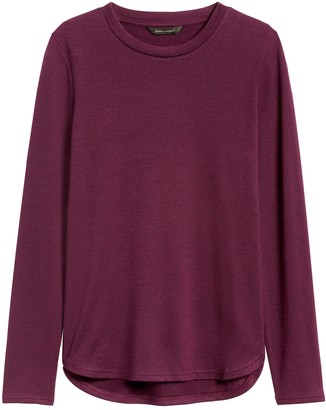 Banana Republic Luxespun Curved Hem T-Shirt