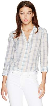 Paige Women's Kiernan Shirt White/ Pale Mauve