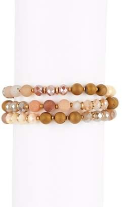 Melrose and Market 3-Row Beaded Friendship Bracelet