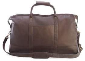 ROYCE New York Colombian Leather Luxury Weekender Duffel Bag