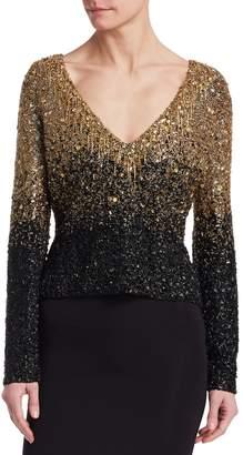 Badgley Mischka Women's Sequin Blouse