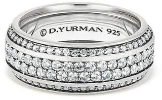 David Yurman Exotic Stone Streamline Pavé Band Ring with Gray Sapphire