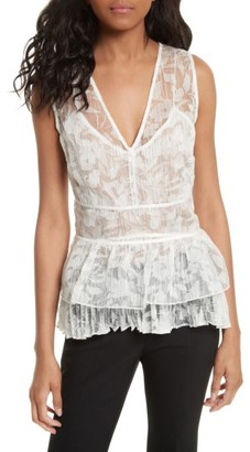 Women's Tracy Reese Sheer Silk Overlay Shell $248 thestylecure.com