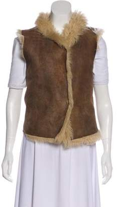 Joseph Distressed Leather Vest