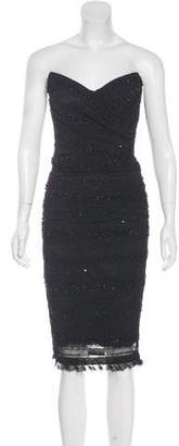 Dolce & Gabbana Sequin Embellished Strapless Midi Dress