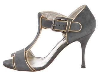 Dolce & Gabbana Suede T-Strap Sandals