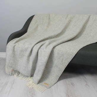 Stabo Monogrammed Personalised Herringbone Wool Throw