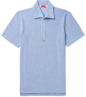 Isaia Mélange Cotton-Piqué Polo Shirt