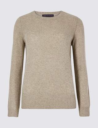 Marks and Spencer Lambswool Rich Textured Round Neck Jumper