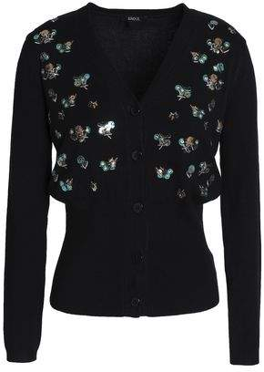 Raoul Sequin-Embellished Embroidered Cotton-Blend Cardigan