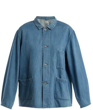 Chimala Oversized patch-pocket denim jacket