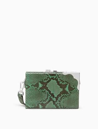 Calvin Klein python mini box clutch