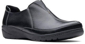 Clarks Cheyn Bow Leather Slip-On Shoes