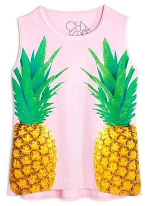 Chaser Girls' Pineapple Graphic Tank - Little Kid, Big Kid