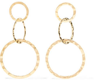 Isabel Marant Hammered Gold-tone Earrings