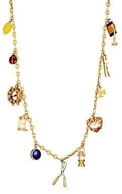 Tory Burch Women's Multi-Stone Goldtone Charm Rosary Long Necklace