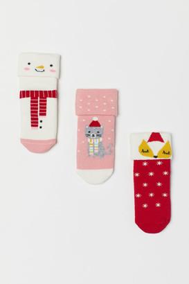 H&M 3-pack Socks - Pink