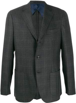 Barba Jimmy check-print blazer