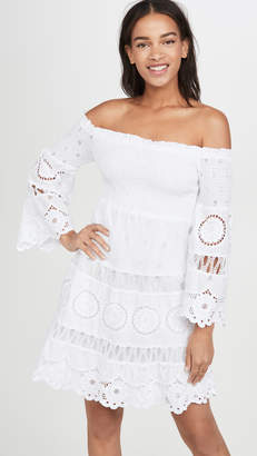 Temptation Positano Off Shoulder Long Sleeve Short Dress