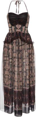 Anna Sui Paisley Border Maxi Dress