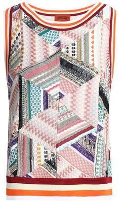 Missoni Paneled Crochet-Knit Tank
