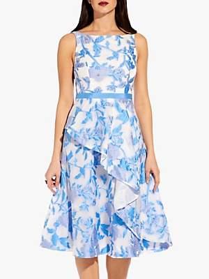 Adrianna Papell Organza Dress, Sky Blue/Multi