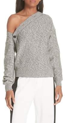 MM6 MAISON MARGIELA Asymmetrical Button Sweater