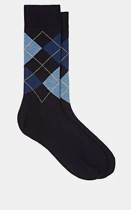Barneys New York Men's Argyle Wool-Blend Mid-Calf Socks - Blue