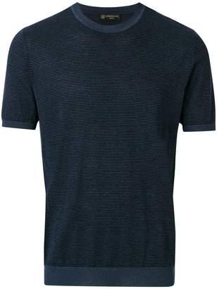 Corneliani striped short sleeve sweater