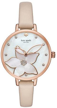 Kate SpadeKate Spade New York Classic Metro Leather Strap Watch