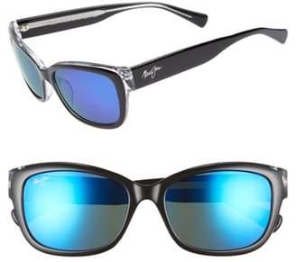 Maui Jim Plumeria 55mm Polarized Cat Eye Sunglasses