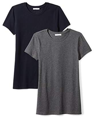 Daily Ritual Women's Stretch Supima Short-Sleeve Crew Neck T-Shirt