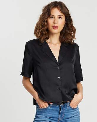 Atmos & Here Satin Resort Shirt