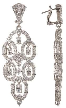 Judith Ripka Sterling Silver CZ Pierced Earrings
