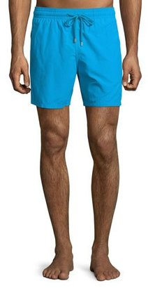 Vilebrequin Moorea Solid Swim Trunks $190 thestylecure.com