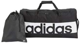 adidas Linear Large Holdall and Gym Sack - Black