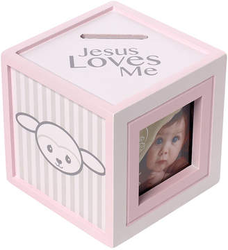 Precious Moments Precious Lamb Jesus Loves Me Photo Cube Bank, Girl