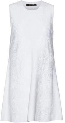 Roberto Cavalli Cloqué Mini Dress
