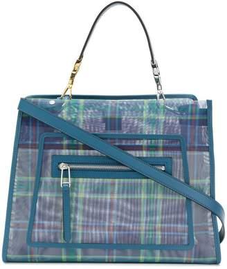 Fendi Runaway check tote bag