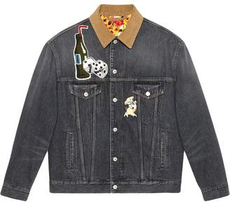 Gucci logo denim jacket