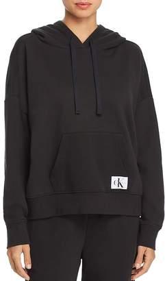 Calvin Klein Monogram Lounge Long-Sleeve Hooded Sweatshirt