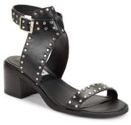 Steve Madden Gila Leather Studded Sandals $79 thestylecure.com