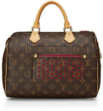 Louis Vuitton Limited Edition Fuchsia Monogram Perforated Speedy 30